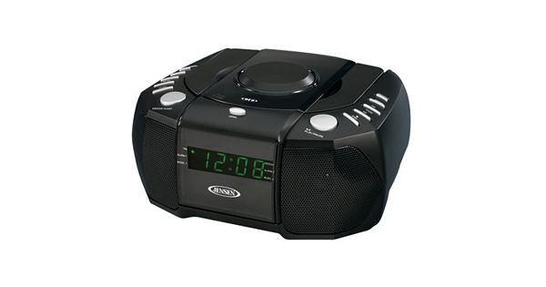 jensen am fm stereo dual alarm clock radio with cd player. Black Bedroom Furniture Sets. Home Design Ideas