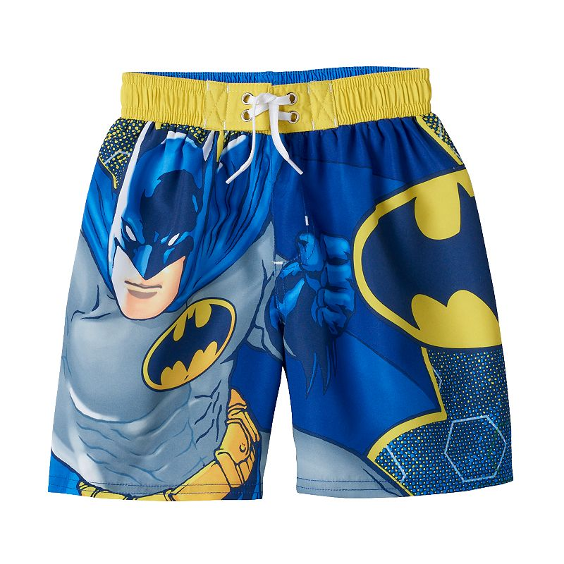 Boys 4-7 DC Comics Batman Connected Cell Swim Trunks