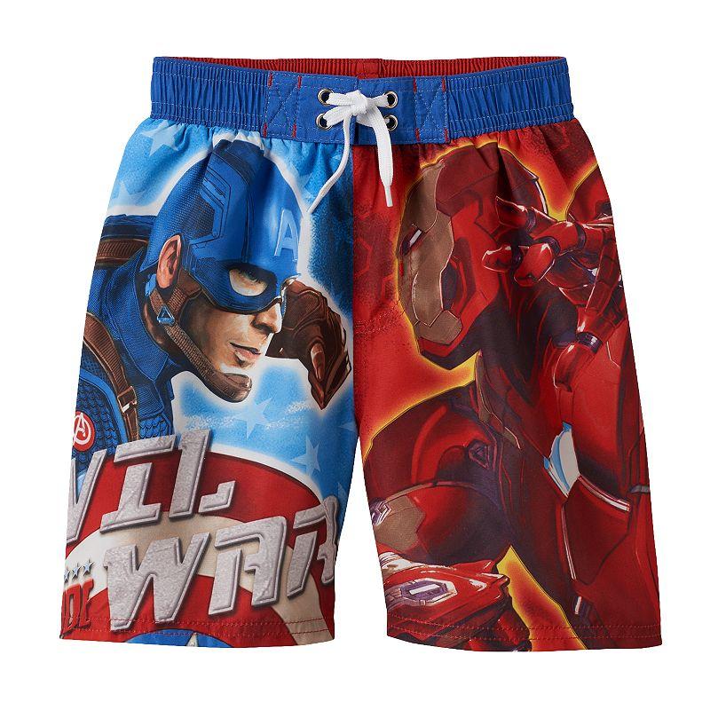 Boys 4-7 Marvel Captain America: Civil War Photoreal Swim Trunks