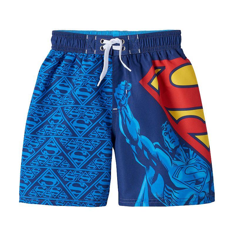 Boys 4-7 DC Comics Superman Logo Swim Trunks
