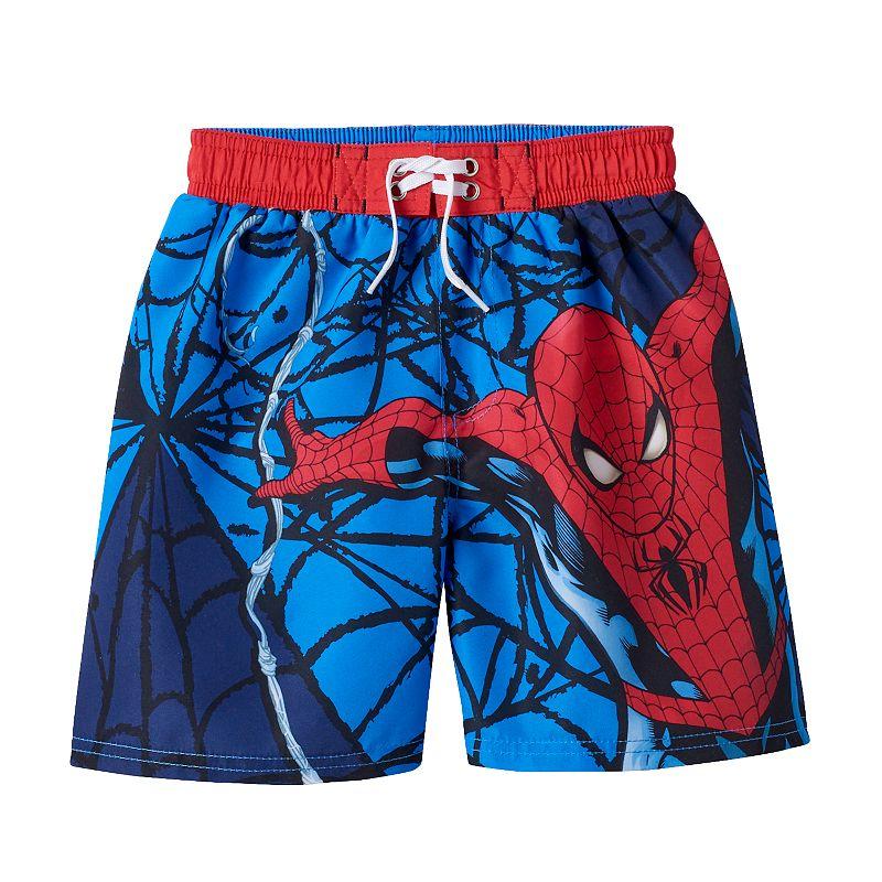 Boys 4-7 Marvel Spider-Man Web Swim Trunks