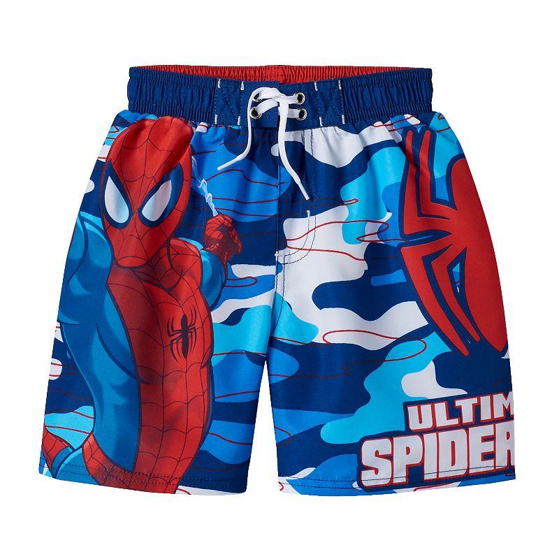 Boys 4-7 Marvel Ultimate Spider-Man Camouflage Swim Trunks