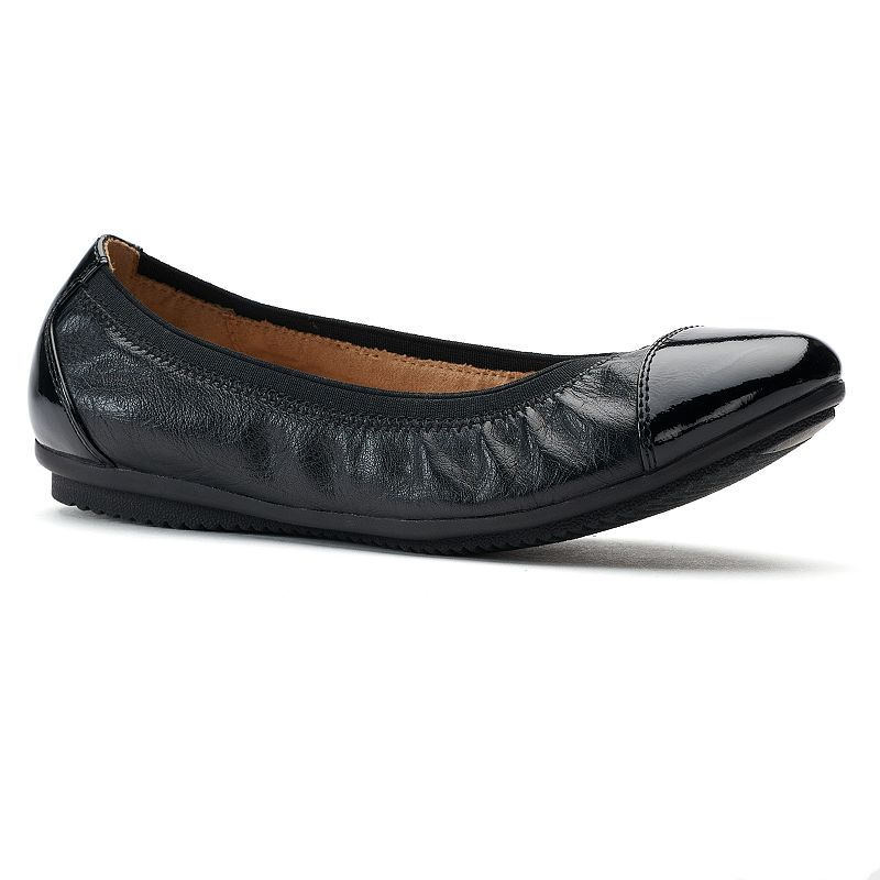 Croft & Barrow® Women's Cap-Toe Ballet Flats