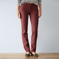 Women's SONOMA Goods for Life™ Sateen Slim Straight-Leg Pants