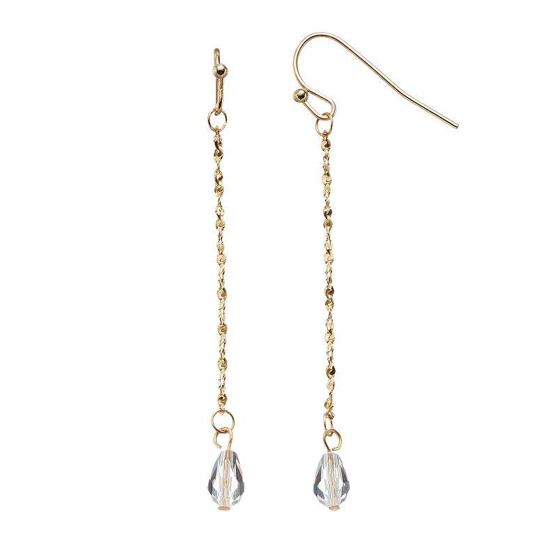 LC Lauren Conrad Linear Drop Earrings