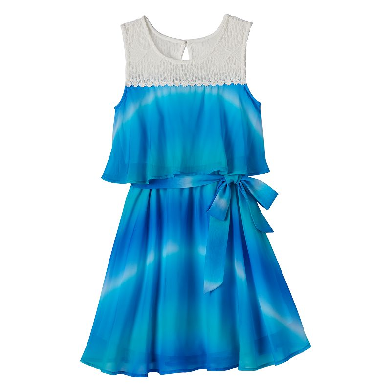 Girls 7-16 lilt Mock-Layer Ombre Tank Dress