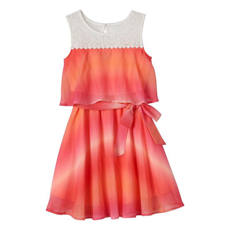 Girls 7-16 lilt Mock-Layer Ombre Tank Dress
