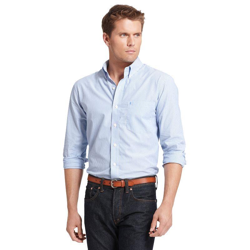 Big & Tall IZOD Striped Casual Button-Down Shirt