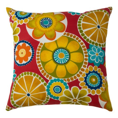 Rizzy Home Bold Floral Throw Pillow