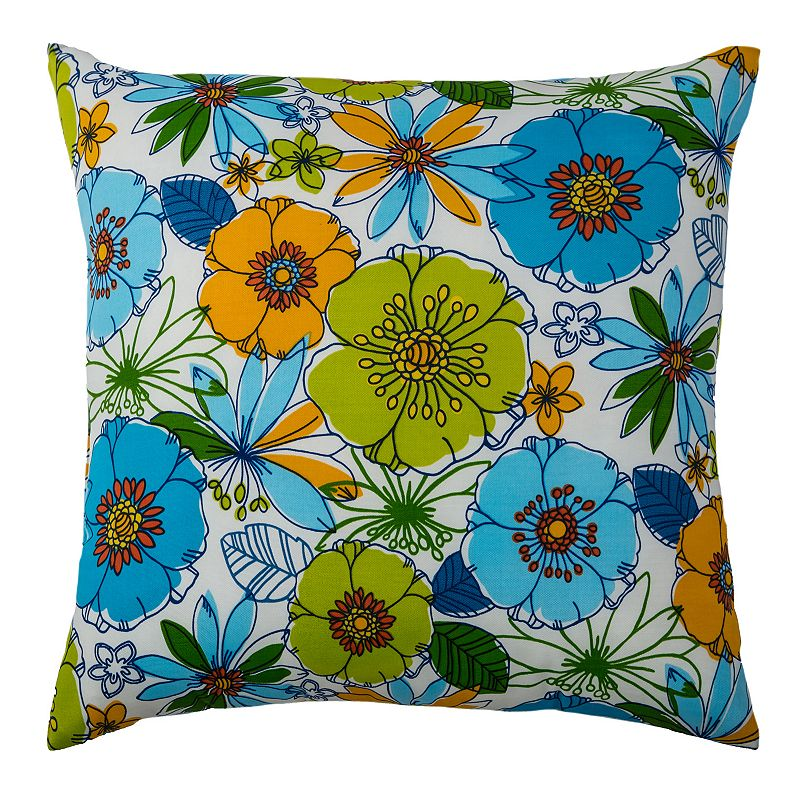 Rizzy Home Bold Botanical Throw Pillow