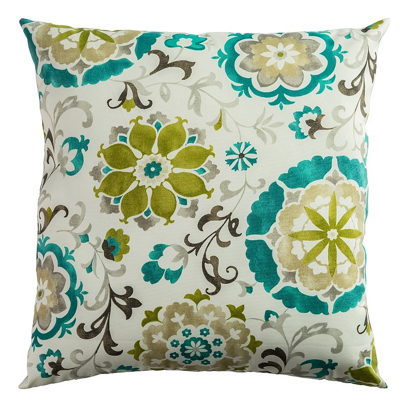 Rizzy Home Fresh Floral Throw Pillow
