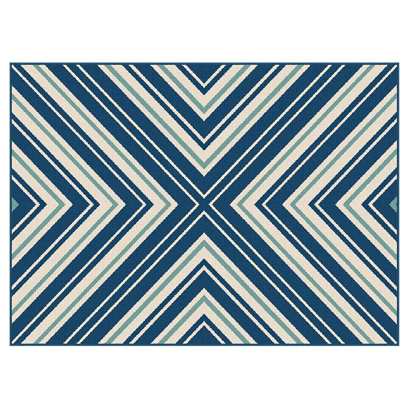 KHL Rugs Garden City Charley Chevron Indoor Outdoor Rug