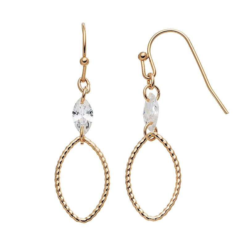 LC Lauren Conrad Twisted Marquise Drop Earrings