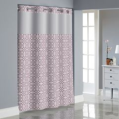 Hookless Medallion Shower Curtain with Liner by