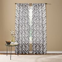 Custom Home Painted Chevron Curtain