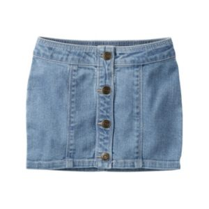 Girls 4-8 Carter's Button-Front Jean Skirt