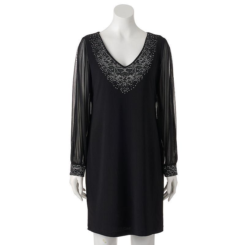 Women's Onyx Nite Embellished Shift Dress
