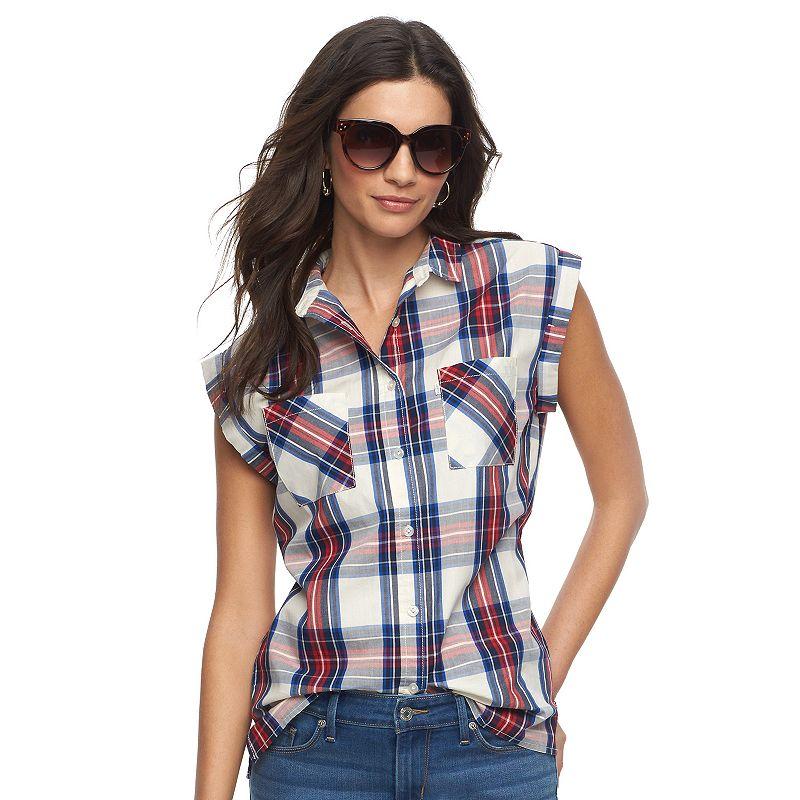 Women's Levi's Plaid Muscle Shirt