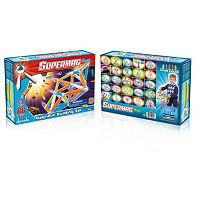 Supermag Maxi 66-pc. Neon Magnetic Building Set