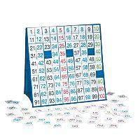 LAURI 100 Board Tabletop Pocket Chart