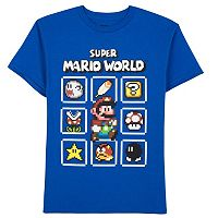 Boys 8-20 Super Mario World Pix Pack Tee