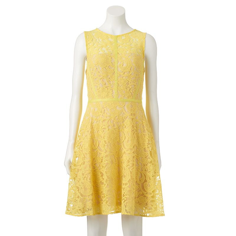 Women's Donna Ricco Lace Fit & Flare Dress