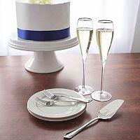 Cathy's Concepts Mr. & Mr. Monogram Champagne Flute & Cake Set