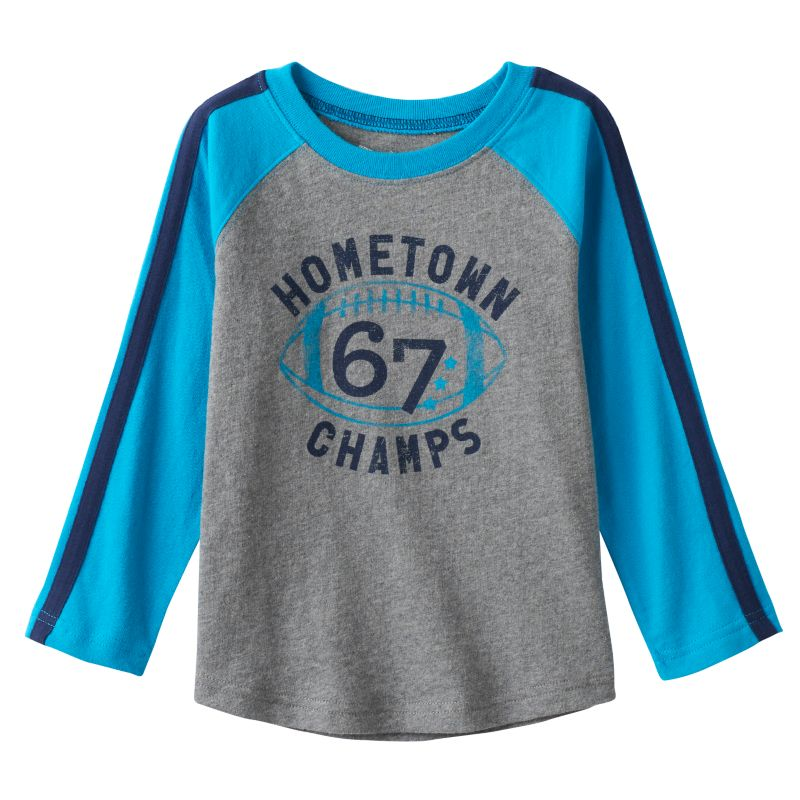 Toddler Boy Jumping Beans Raglan Long Sleeve Sport Graphic Tee, Size: 4T, Med Grey