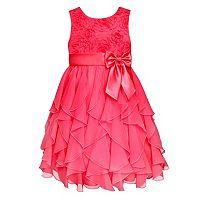 Girls 7-16 American Princess Corkscrew Ruffle Dress