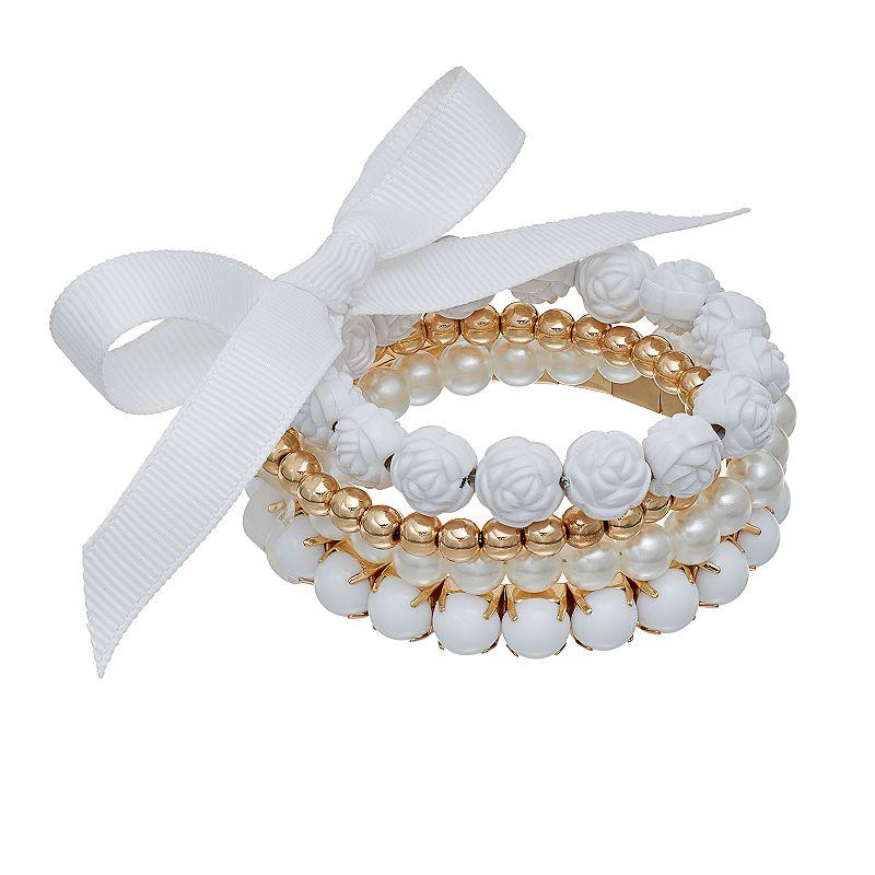 Mudd® Flower Bead Stretch Bracelet Set