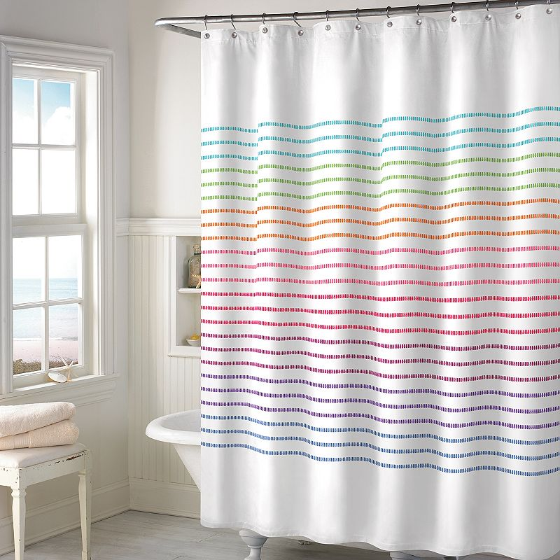 Style Lounge Landon Yarn Dyed Woven Shower Curtain DealTrend