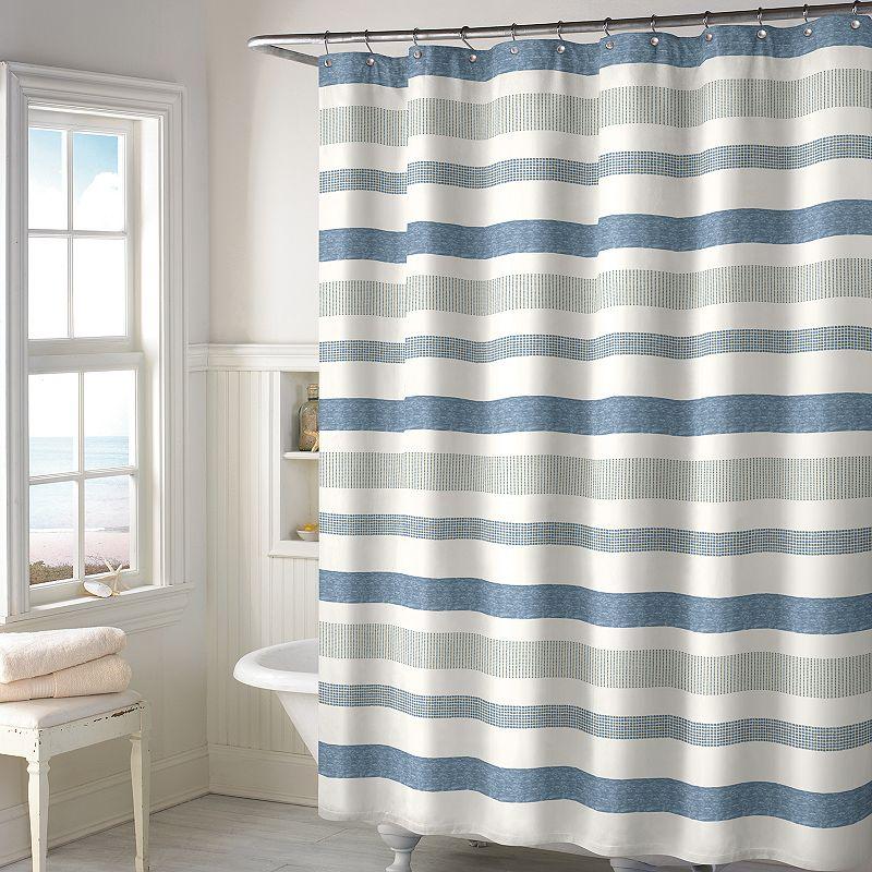 Style Lounge Landon Yarn-Dyed Woven Shower Curtain