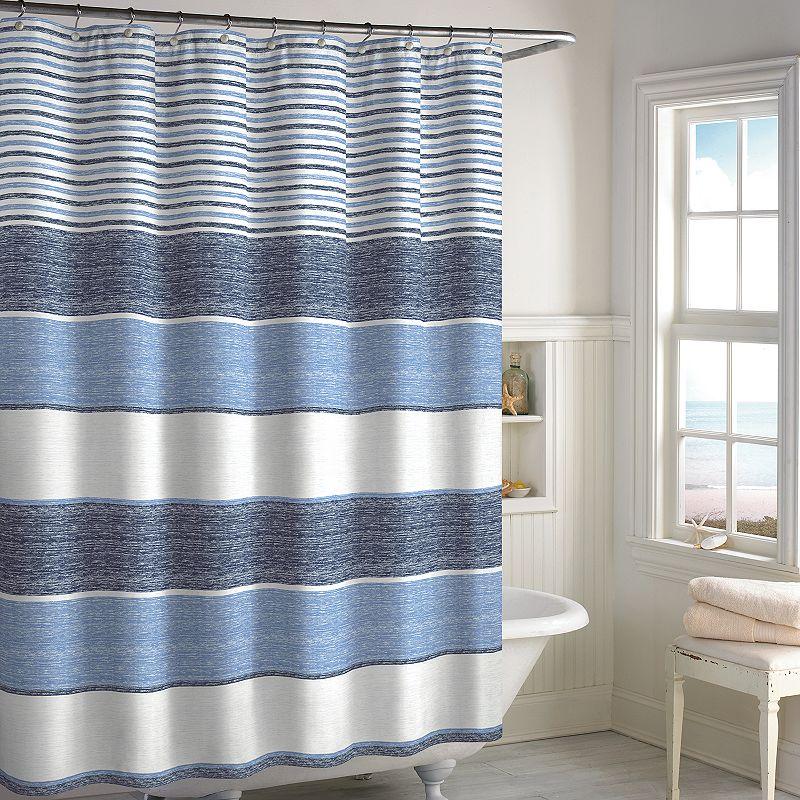 Destinations Marina Stripe Yarn-Dyed Woven Shower Curtain