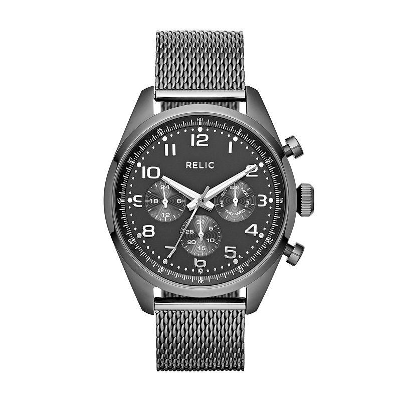 Relic Men's Collin Stainless Steel Mesh Watch