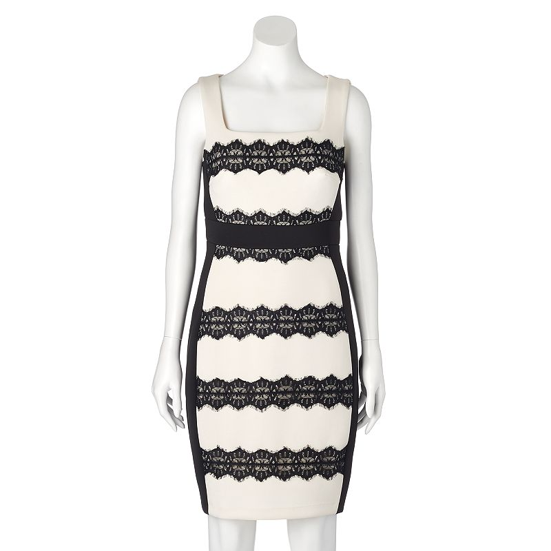 Women's Jax Lace Stripe Sheath Dress
