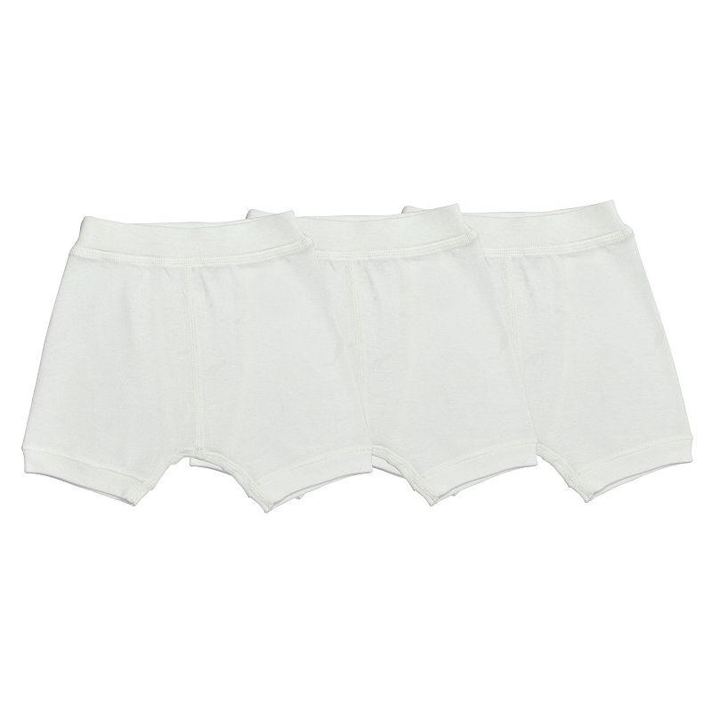 Boys 2-7 Burt's Bees Baby 3-pk. Solid Organic Boxer Shorts