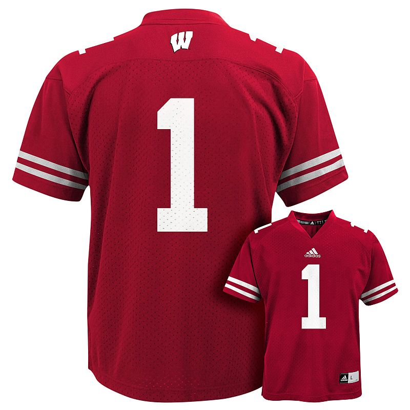 Boys 4-7 adidas Wisconsin Badgers Replica Football Jersey
