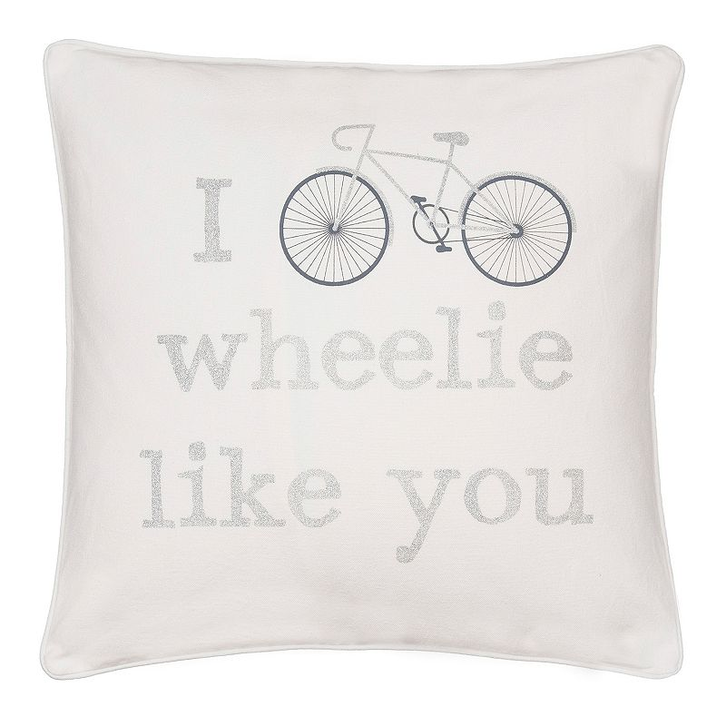 ''I Wheelie Like You'' Throw Pillow