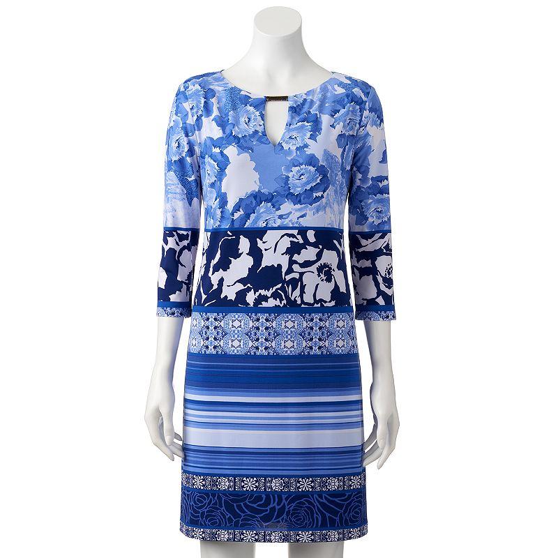 Women's Chaya Floral Striped Shift Dress