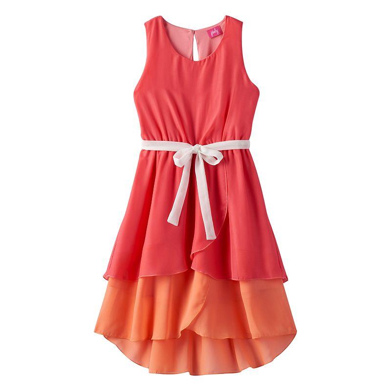 Girls 7-16 & Plus Size lilt High-Low Colorblock Dress