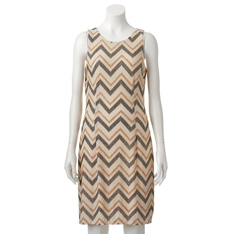 Women's Scarlett Glitter Chevron Shift Dress