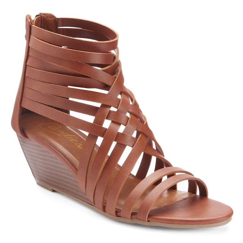 Candie's® Women's Strappy Wedge Sandals