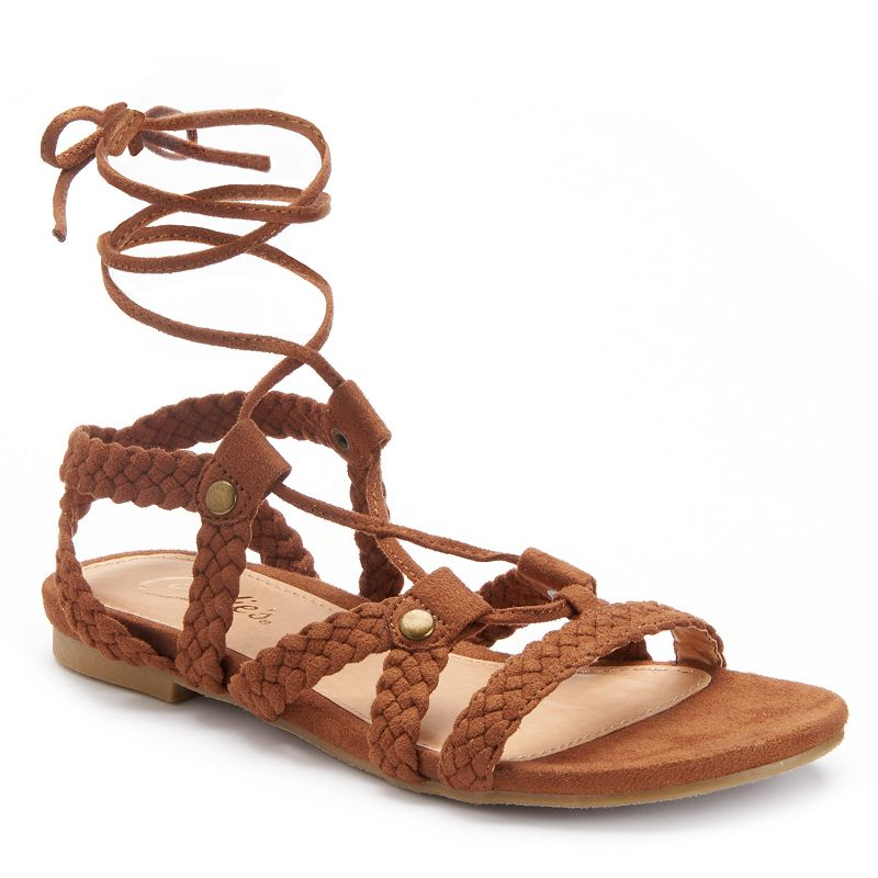Candie's® Women's Strappy Lace-Up Sandals