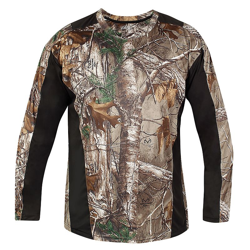 Men's Realtree Earthletics Classic-Fit Camo Colorblock Microfiber Performance Tee