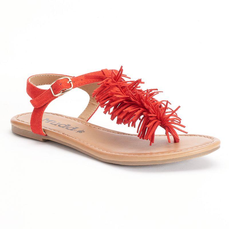 Mudd® Women's Fringe Thong Sandals