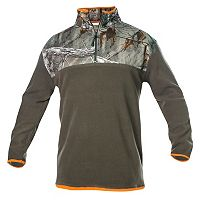 Big & Tall Earthletics Modern-Fit Camo Microfleece Quarter-Zip Pullover