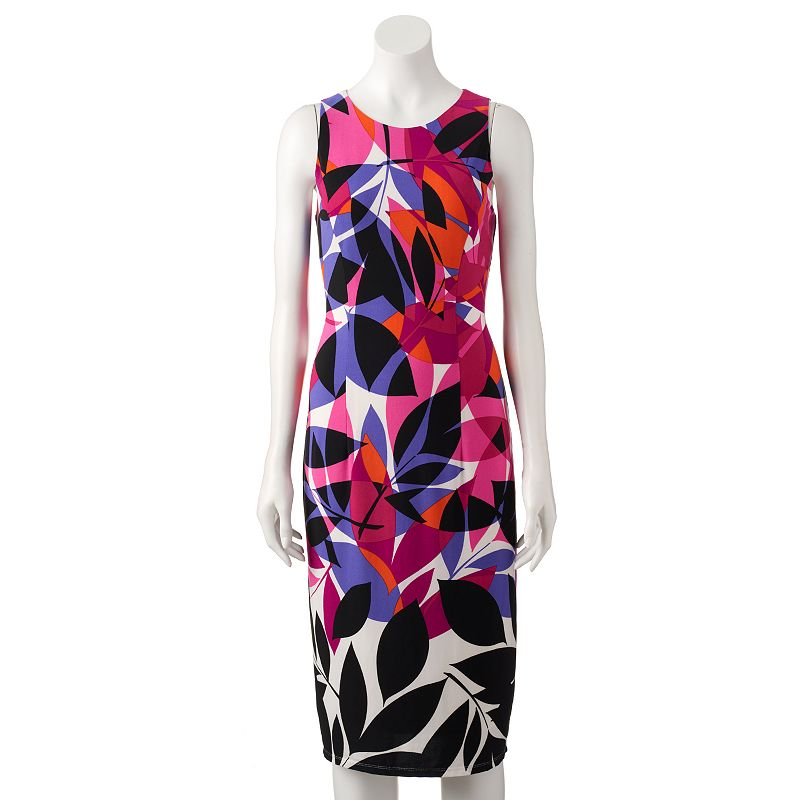 Women's Suite 7 Abstract Leaf Midi Dress