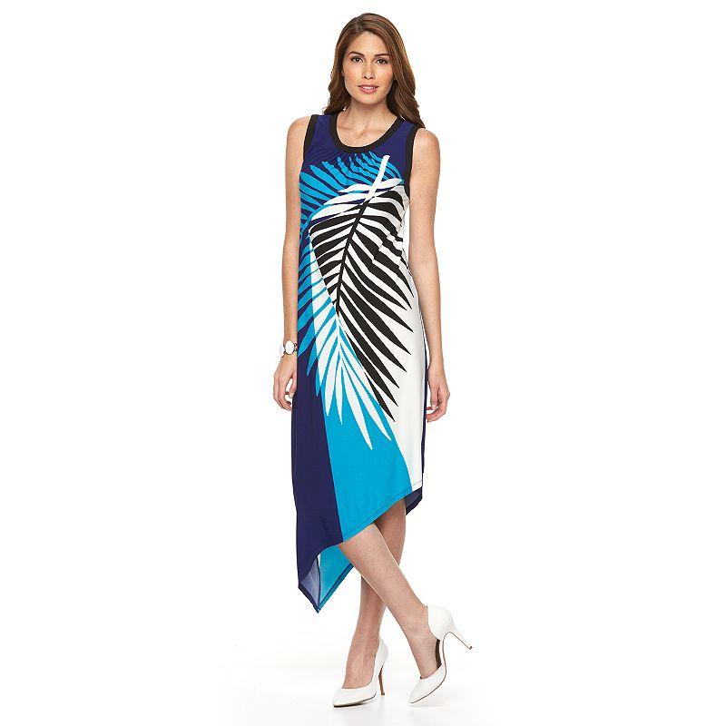 Women's Suite 7 Colorblock Asymmetrical Shift Dress