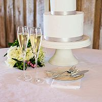Cathy's Concepts Mrs. & Mrs. Monogram Champagne Flute & Cake Set