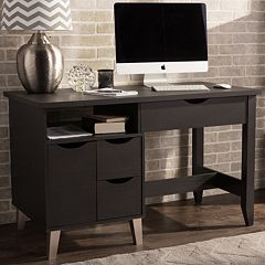 Baxton Studio McKenzie Home Office Study Desk  by